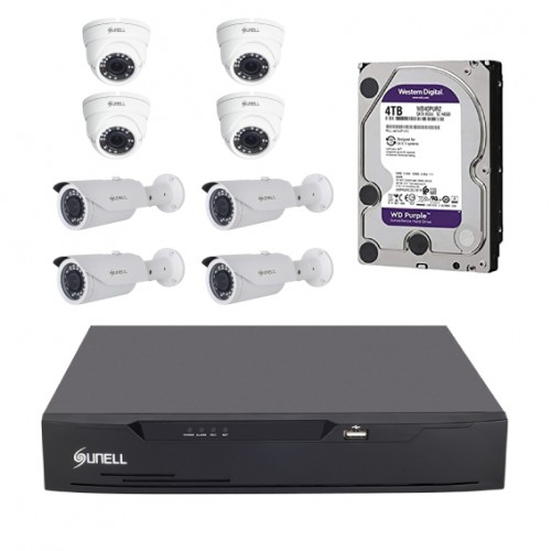 8 UHD cameras with 4TB purple WD HDD and 8 channels DVR