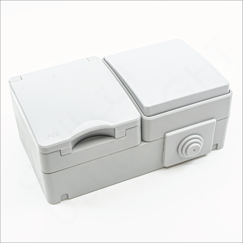 Outdoor switch with socket (M65/13U/L1/1)