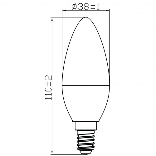 5.5W Bulb E14 (UTLC600ST) 3 steps dimming