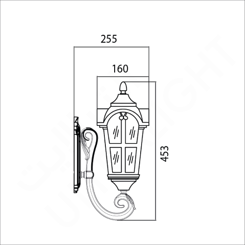 Classic lighting fixture brown (0022WU)