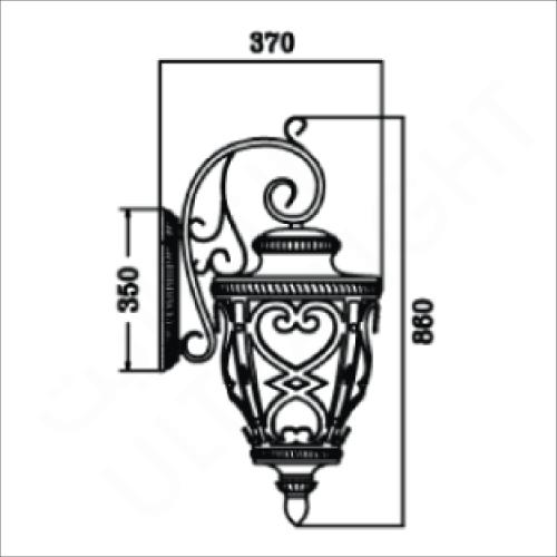 Classic lighting fixture brown (831)