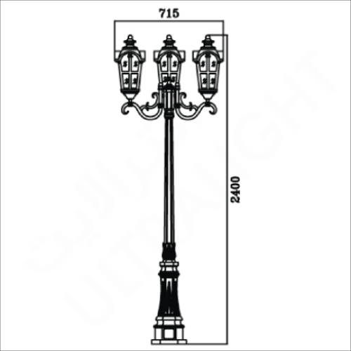 Classic garden pole light (0022)