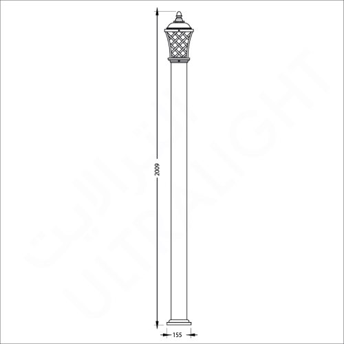 Classic garden pole light (0183)