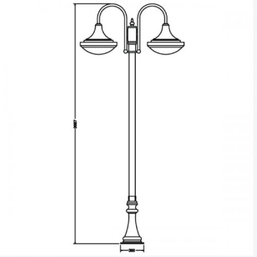 Modern garden pole light (0210)