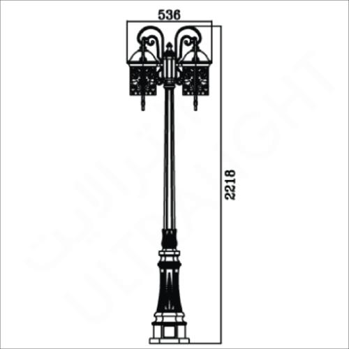 Classic garden pole light (9192)