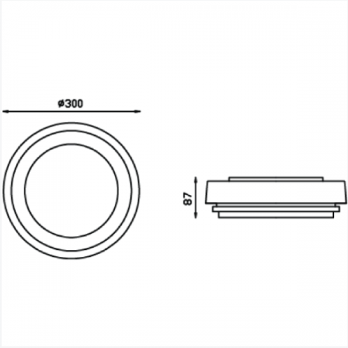 Surface Mounted light fixture E27 (3351)