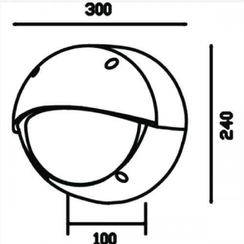 Wall pack lighting fixture E27 (6418)