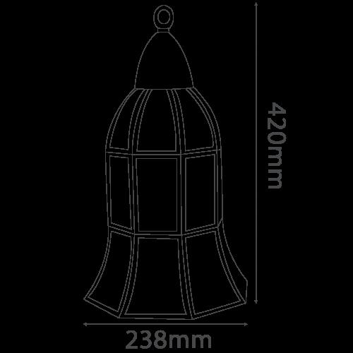 Copper pendant light fixture E14 (6081-3)