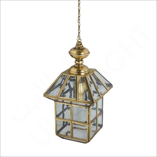 Copper pendant light fixture E14 (61020)