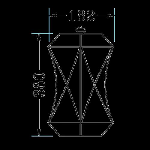 Copper pendant light fixture (61025)