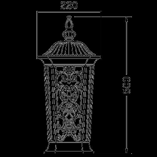 Classic pendant light fixture E27 (9111)