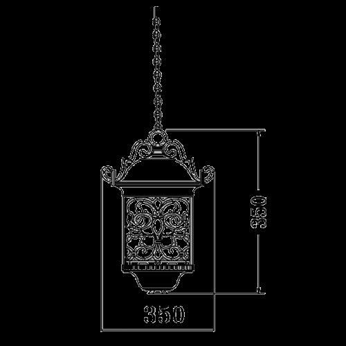 Classic pendant light fixture E27 (9192)