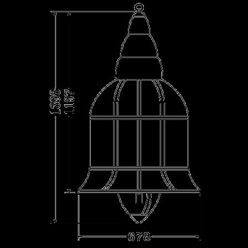 Copper pendant light fixture E14 (D6080)