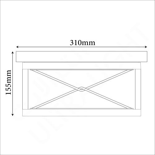 Surface Mounted light fixture E27 (0387B-CL)