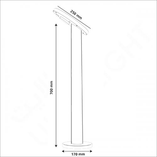 Solar lighting pole (OLT-003-03)