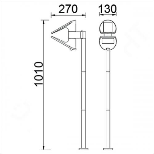 Solar lighting pole (P9011)