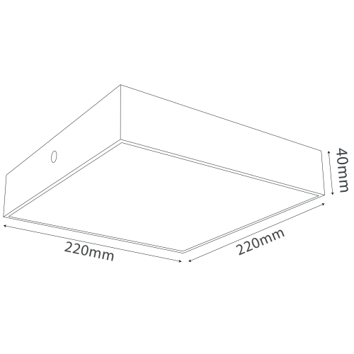 Square surface mounted light (QH1229-S)