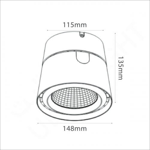 40W Surface mounted light (XD2048)