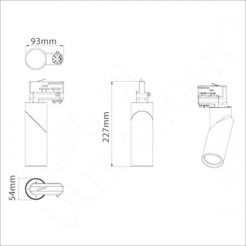 10W Track light (L61050)