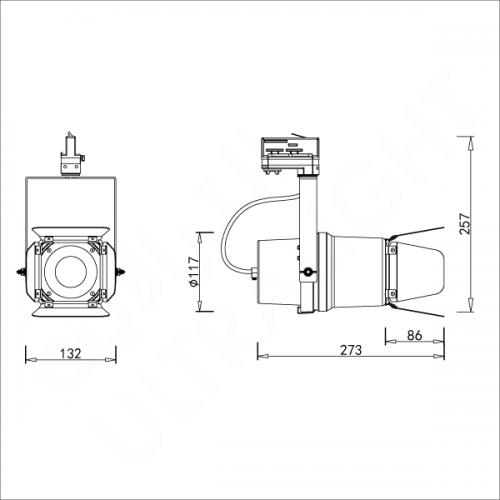 20W Track light (L650100)