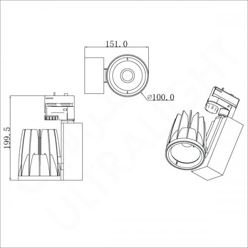 40W Track light (TK-B411)
