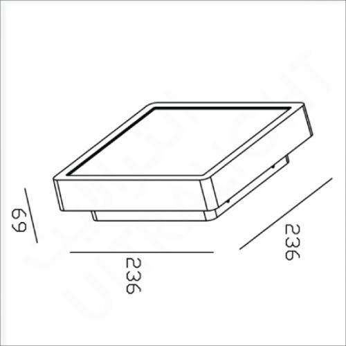 18W Surface Mounted light (5771)