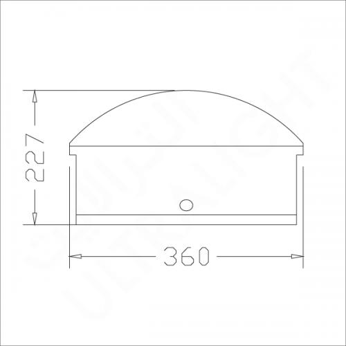 Wall pack lighting fixture E40 (DS-422)