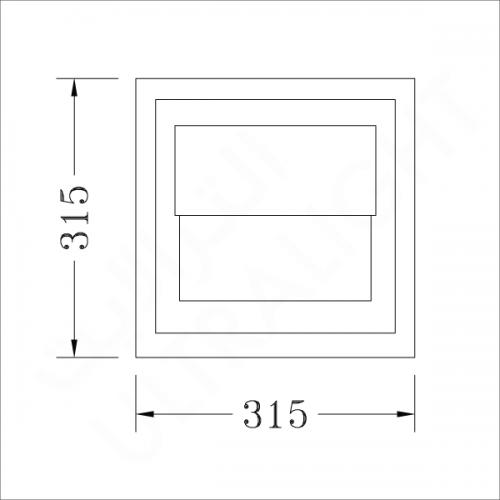 Wall pack lighting fixture E40 (DS419)
