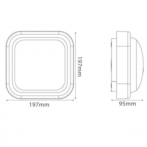 LED Wall pack light (MFS14XA1)