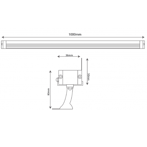 1m 24W Wall washer (BR-7810)
